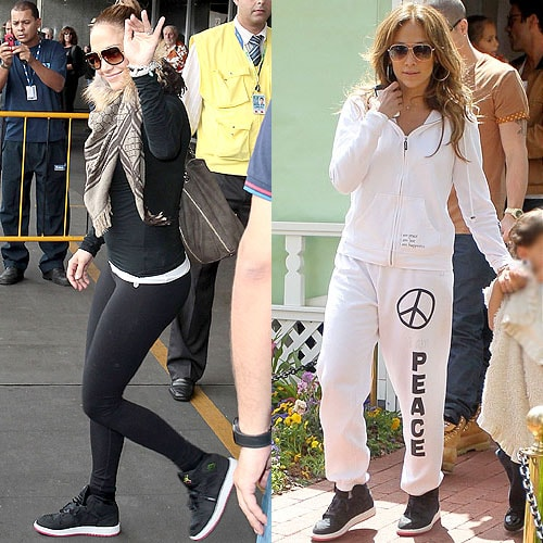Jennifer Lopez arrives at Rio de Janeiro, Brazil on February 19, 2012; Hangs out at The Grove in Hollywood on April 5, 2012