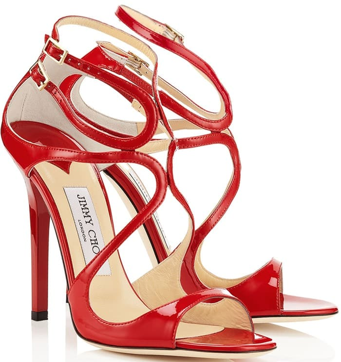 Jimmy Choo Red Lance Sandals