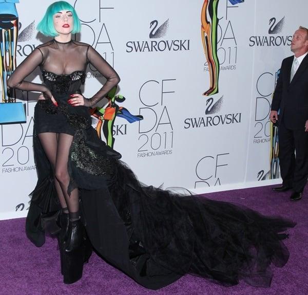 Lady Gaga at the 2011 CFDA Fashion Awards in New York City