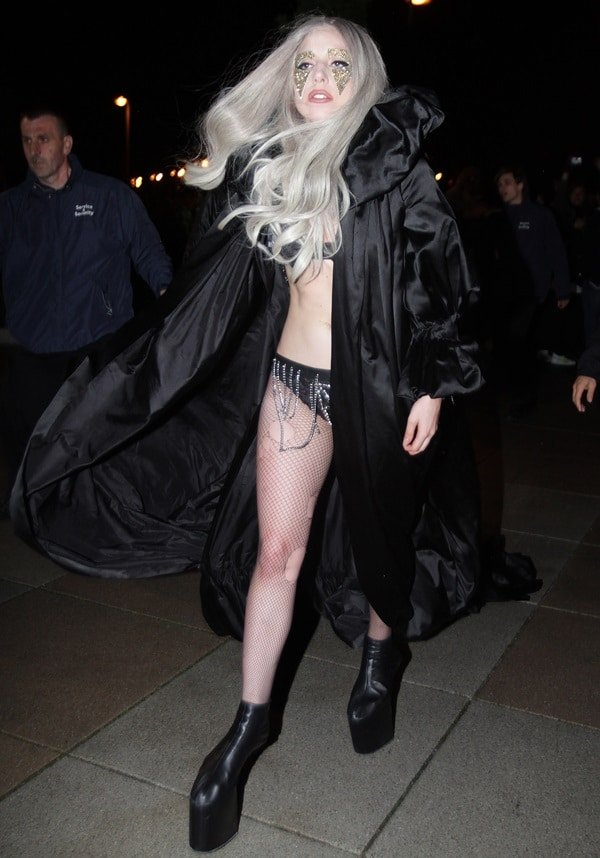 Lady Gaga leaves the O2 World arena after her show in Berlin