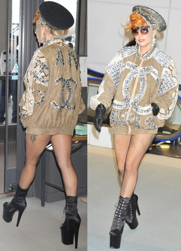 Lady Gaga arrives at Narita International airport to catch a flight in Tokyo, Japan on May 16, 2012