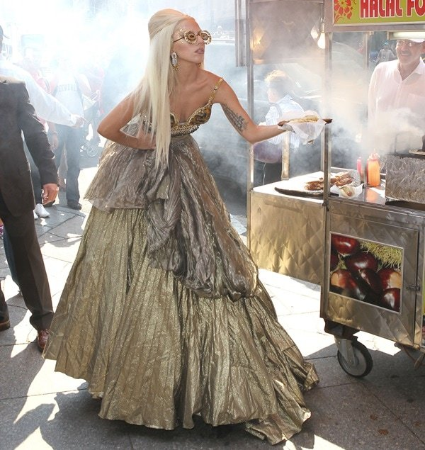 Lady Gaga at a photo shoot for Vanity Fair in New York on September 12, 2011