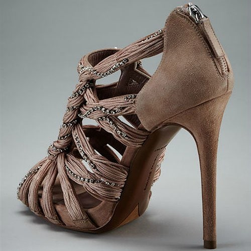 Tabitha Simmons twisted crystal sandals