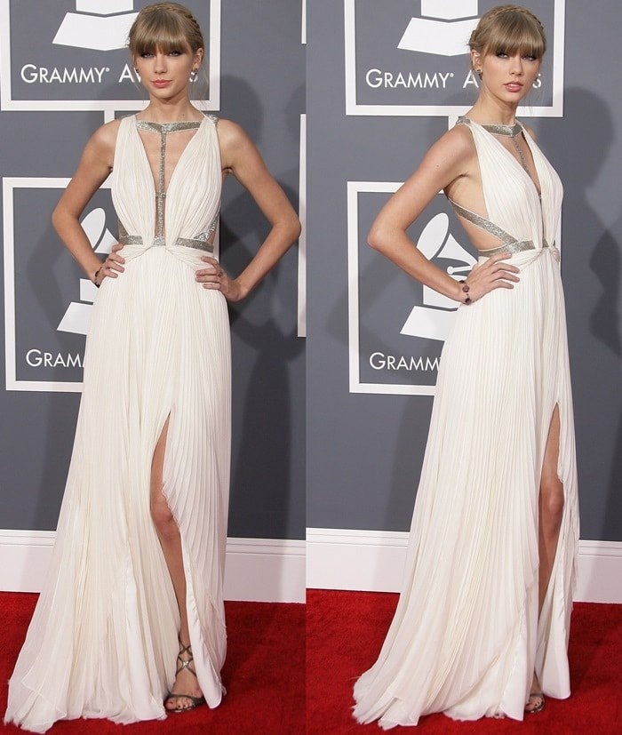 Taylor Swift attends the 55th Annual Grammy Awards at Staples Center on February 10, 2013 in Los Angeles, California