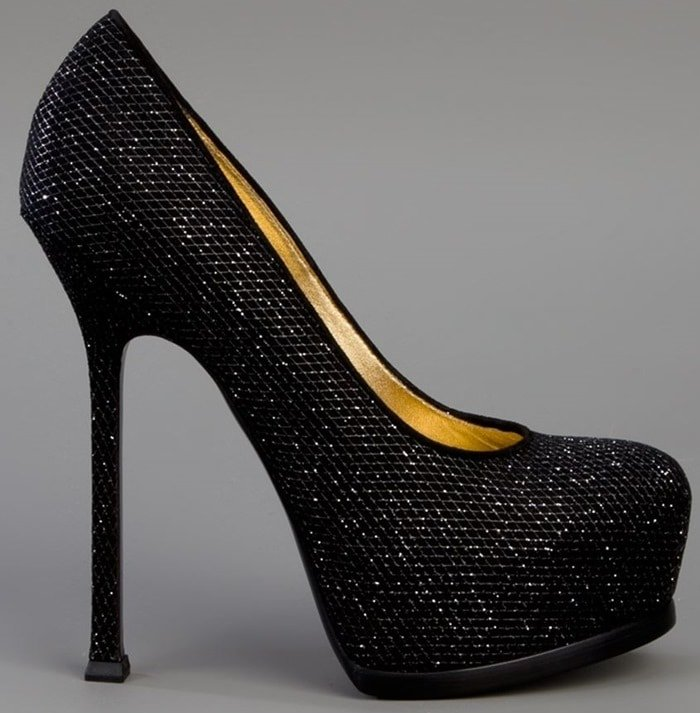 Yves Saint Laurent Tribtoo in Glitter Finish Suede Side