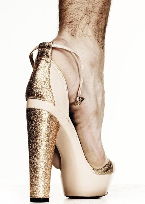 N°21 glitter heel ankle strap sandals