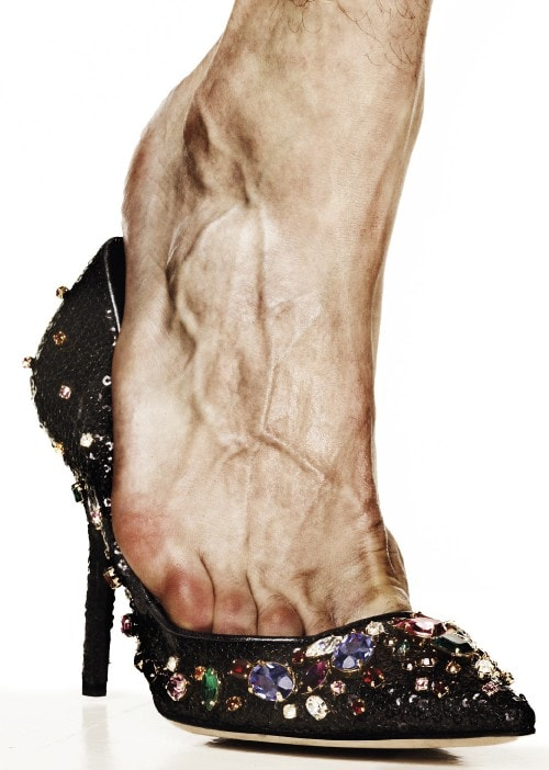 Dolce & Gabbana sequined and jeweled pumps