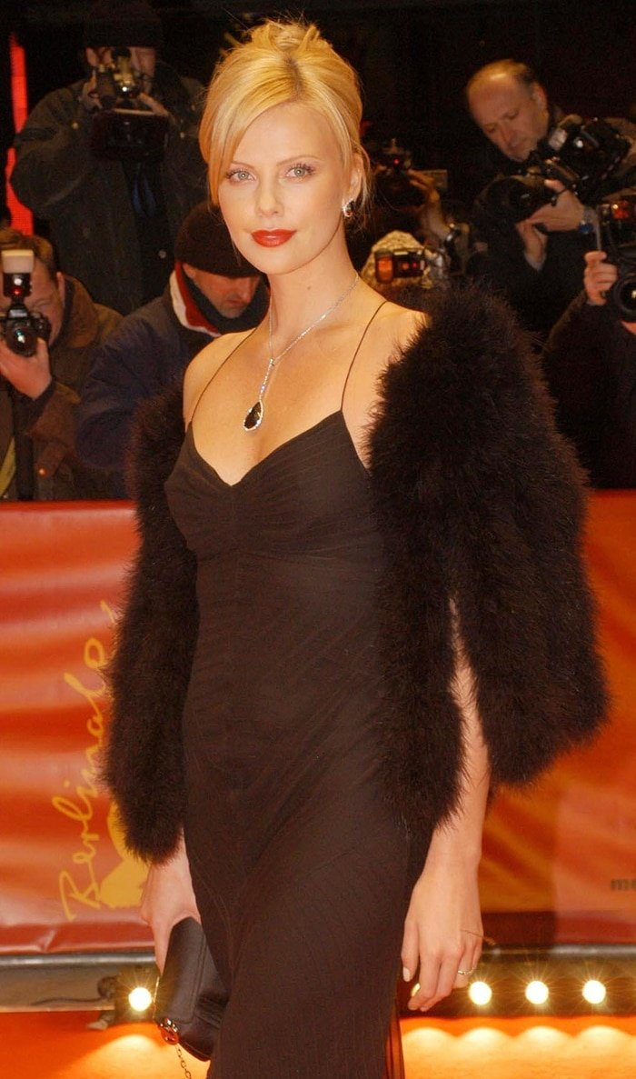 Charlize Theron at the premiere of 'Monster' during the Berlin Film Festival in Germany