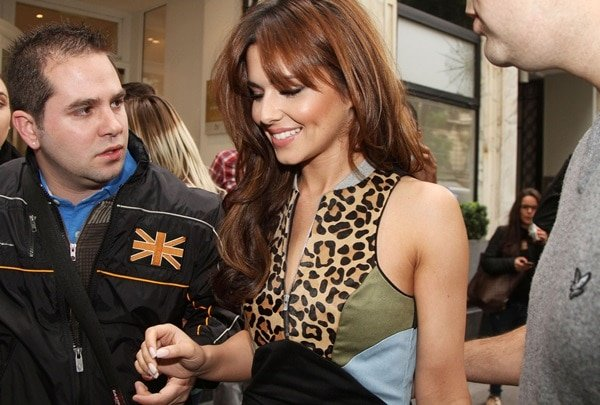 Cheryl Cole's Leopard Print Dress