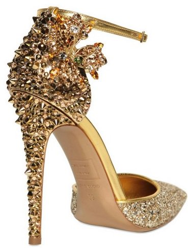 DSQUARED2 Lalique Crystal and Studs Pump Back