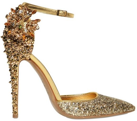 DSQUARED2 Lalique Crystal and Studs Pump