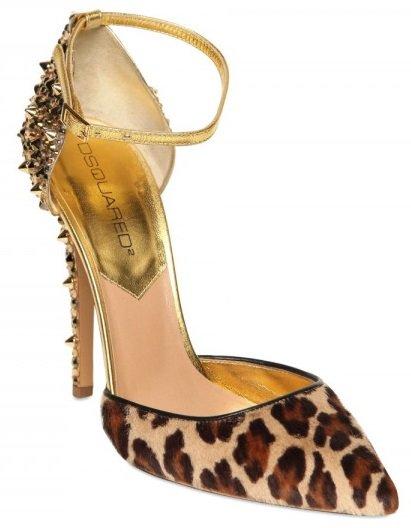 DSQUARED2 Lalique Pony Leopard Studs Pump