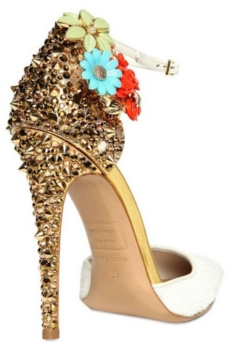 DSQUARED2 Lalique Studs and Flower Pump Back