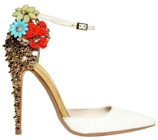 DSQUARED2 Lalique Studs and Flower Pump