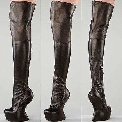 Over-the-knee no-heel boots