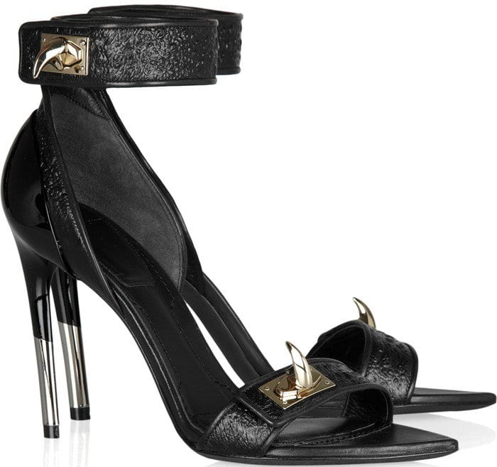Givenchy Hagfish Shark Tooth Embellished Leather Sandals