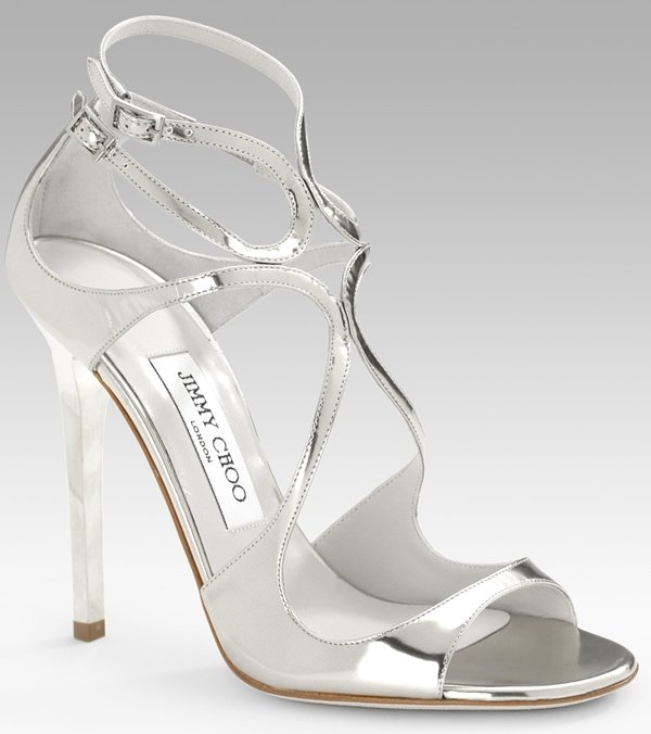 Jimmy Choo Lance Sandals in Silver