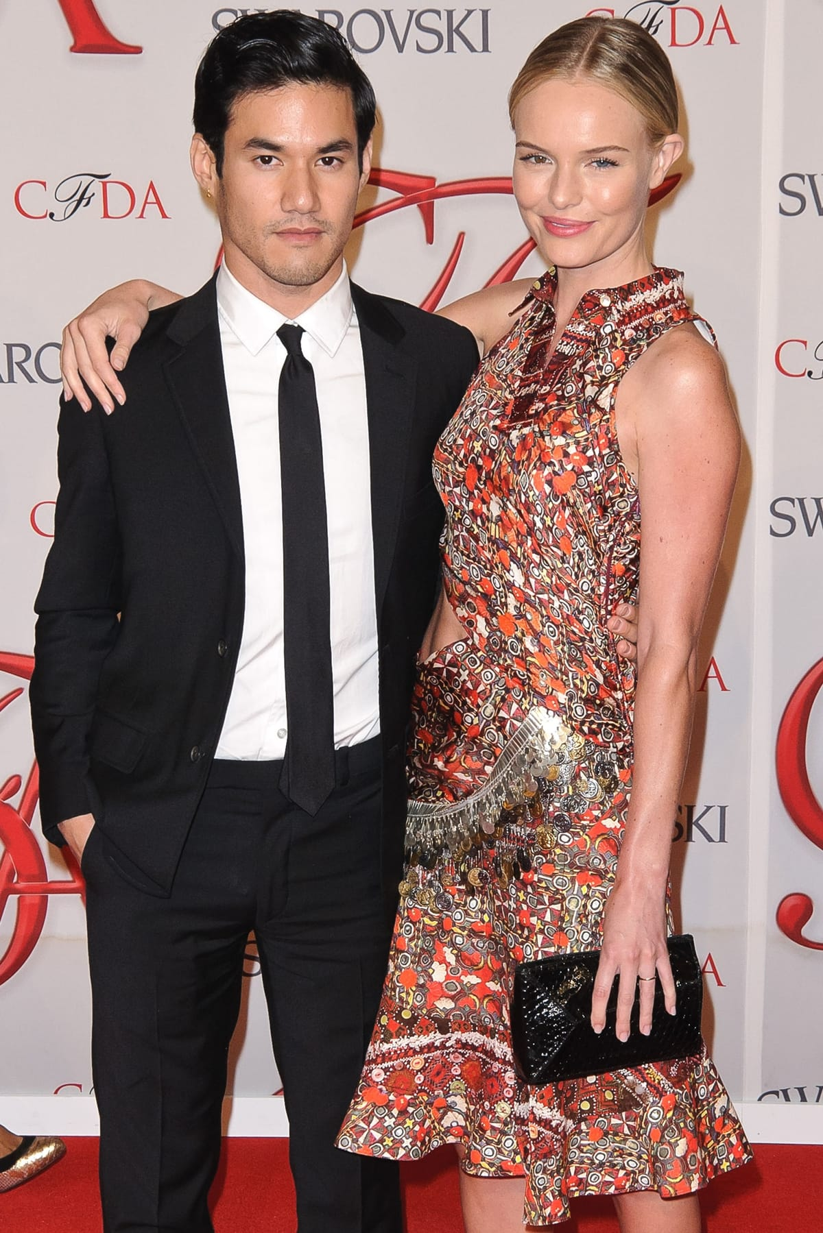 Posing with Kate Bosworth, French-American luxury women's ready-to-wear clothing designer Joseph Altuzarra launched his brand in New York in 2008