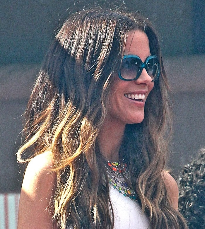 Kate Beckinsale attends producer Joel Silver's annual star-studded Memorial Day party at his Malibu beach house