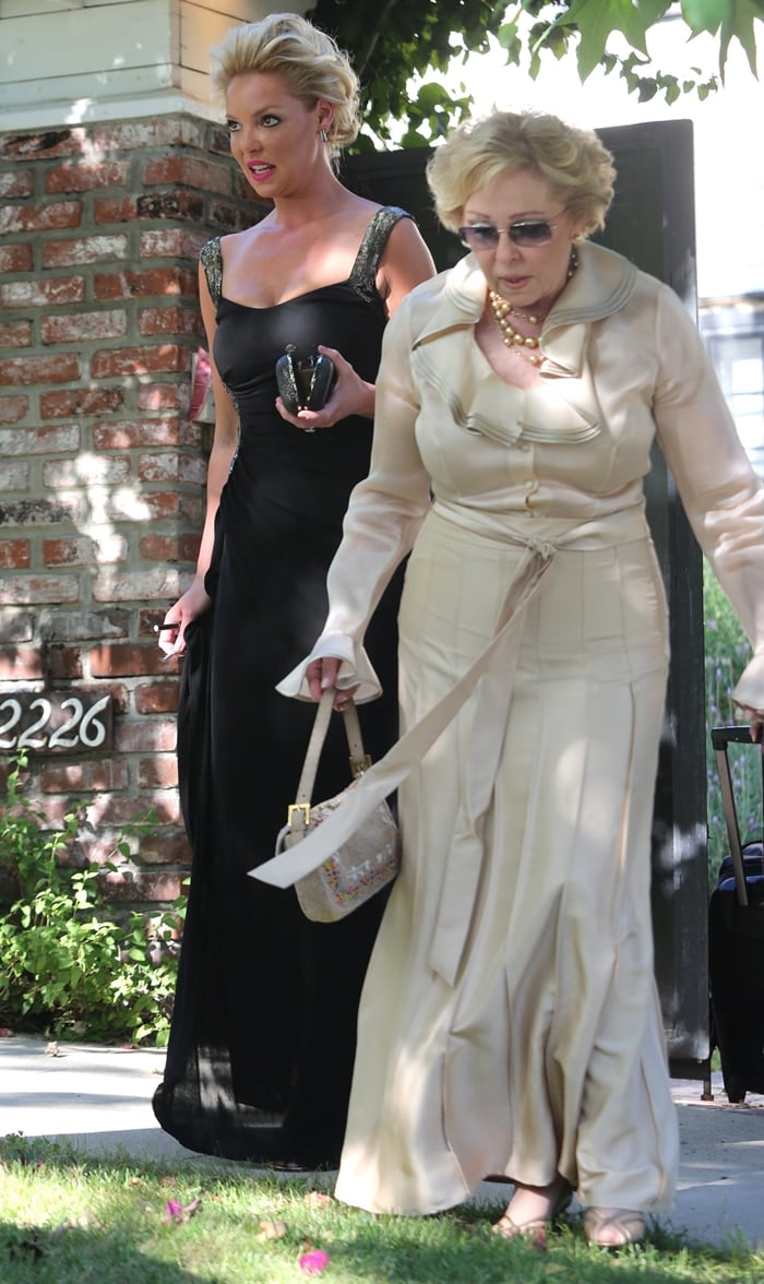 Katherine Heigl and her mother Nancy leaving Katherine's house Los Angeles