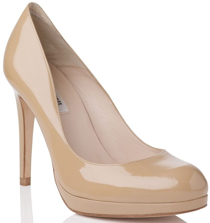 LK Bennett Beige Sledge Round Toe Platform Shoes