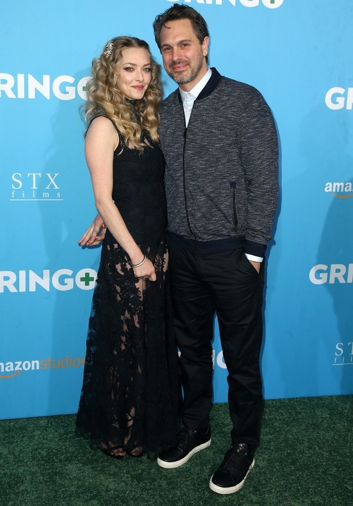 Actress Amanda Seyfried and writer Thomas Sadoski attend the World Premiere of Gringo