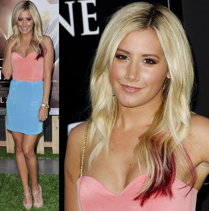 Ashley Tisdale at the premiere of 'The Lucky One' held at Grauman's Chinese Theatre in Hollywood, April 16, 2012