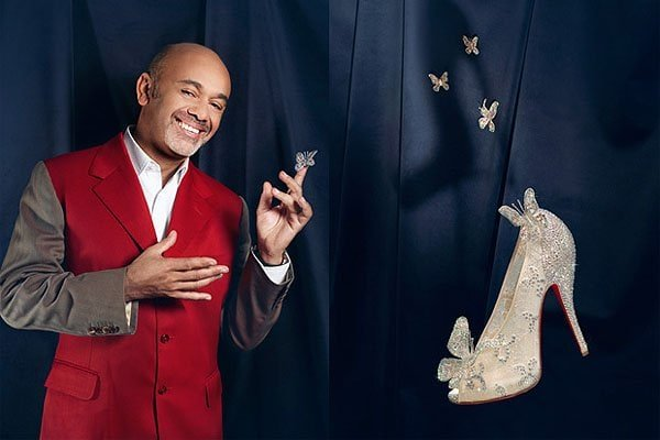 Louboutin evoked the feeling of lightness in his Cinderella shoe by using sheer white lace