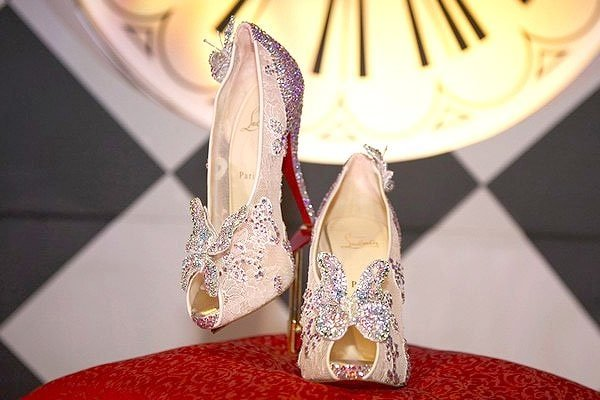 "To commemorate Walt Disney's release of the classic animated film ""Cinderella"" on DVD this fall, they asked Christian Louboutin to create a real-life version of the iconic glass slipper from every girl's childhood."