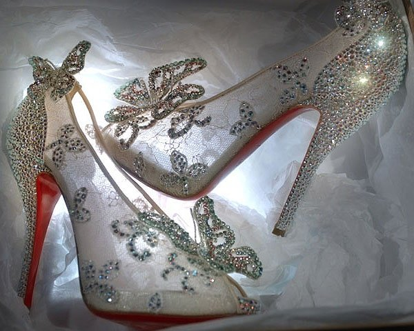 Here's every girl's shoe dream come true -- Christian Louboutin's Cinderella glass slippers
