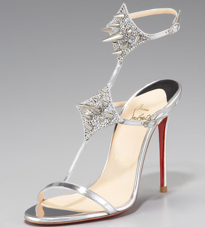 Christian Louboutin 'Lady Max Spike' T-Strap Sandals