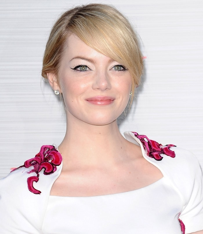 Emma Stone at the Los Angeles premiere of 'The Amazing Spider-Man'