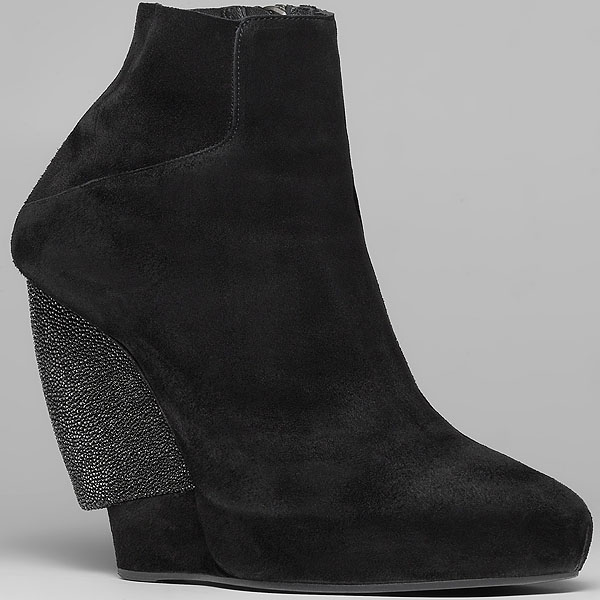 Helmut Lang stingray wedge bootie