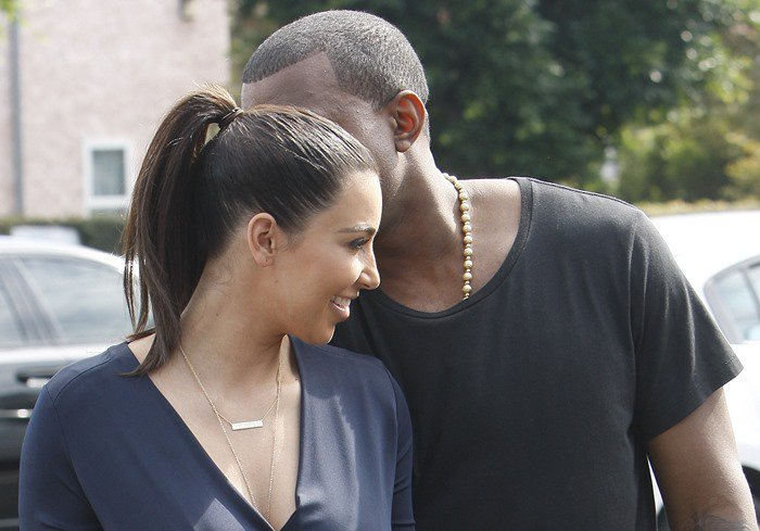 Kim Kardashian and Kanye West head out to lunch in Beverly Hills after attending the grand opening of Dash in Los Angeles on July 13, 2012