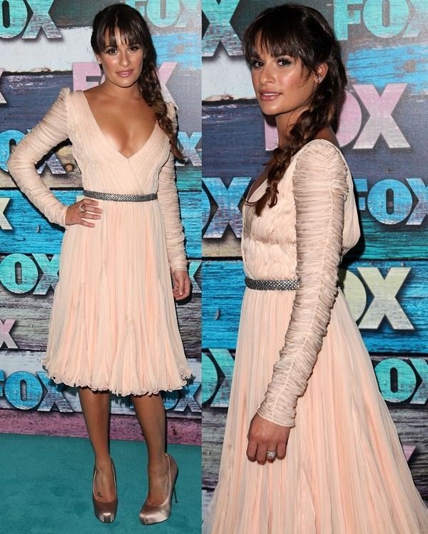 Actress Lea Michele arrives at the FOX All-Star Party at the Soho House on July 23, 2012 in West Hollywood, California