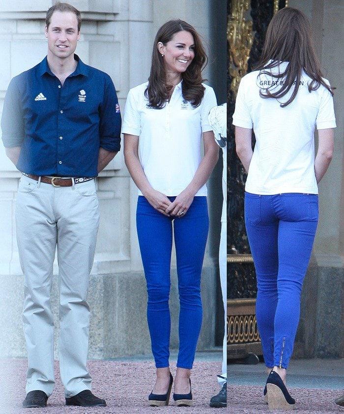 e7de4c9781b Kate Middleton in Blue Stuart Weitzman  Corkswoon  Wedges