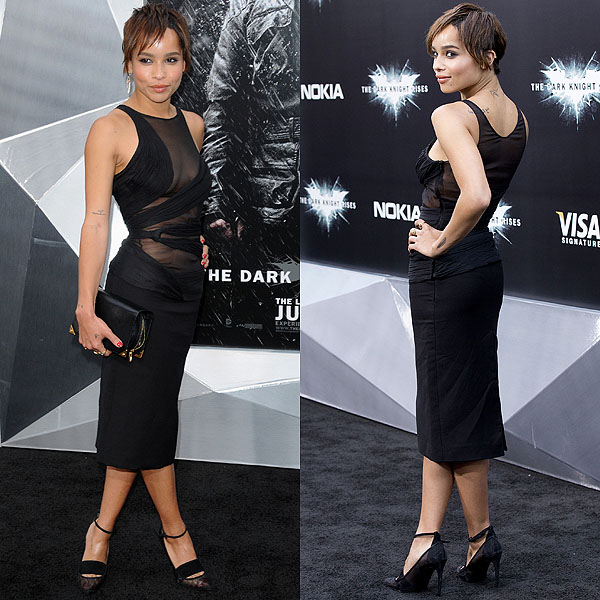 """Zoe Kravitz attends the premiere of """"The Dark Knight Rises"""" at AMC Lincoln Square Theater on July 16, 2012 in New York City"""