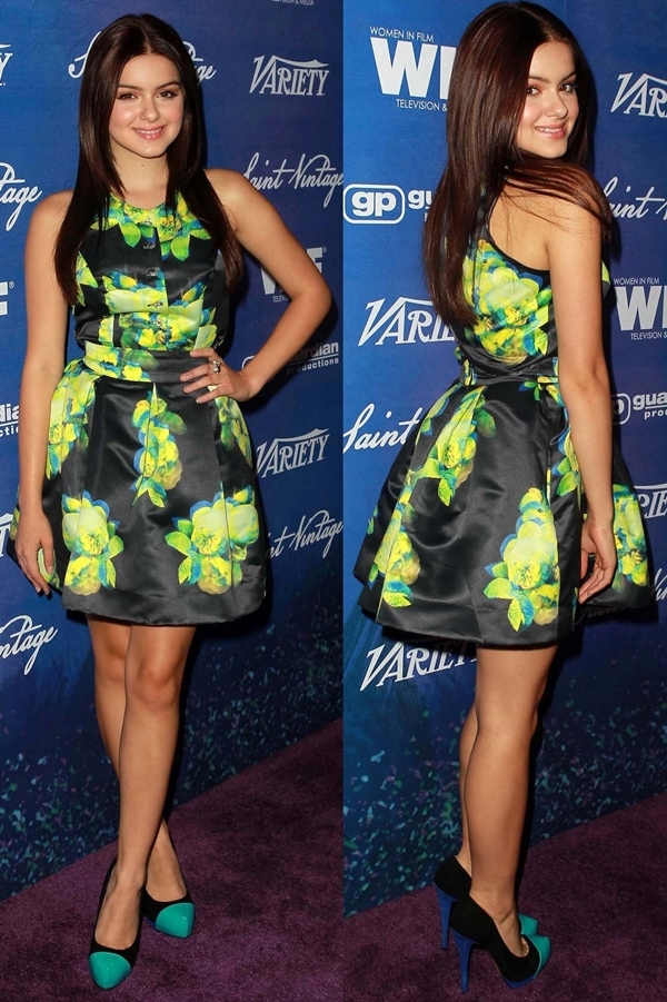 6fc09951767 Ariel Winter flaunts her legs in a brightly colored dress at the Variety  And Women In