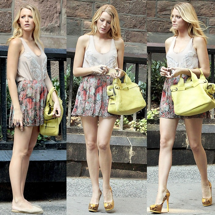 "Blake Lively films scenes for episodes for the final season of ""Gossip Girl"""