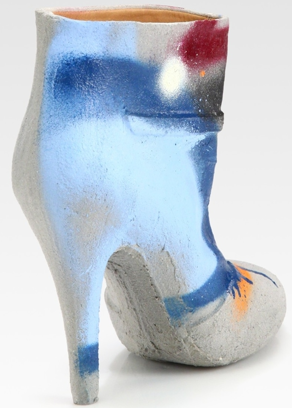 Maison Martin Margiela Cement Dipped Graffiti Ankle Boots Back