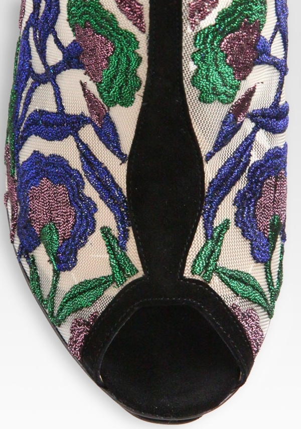 Nicholas Kirkwood Embroidered Open Back Bow Detail