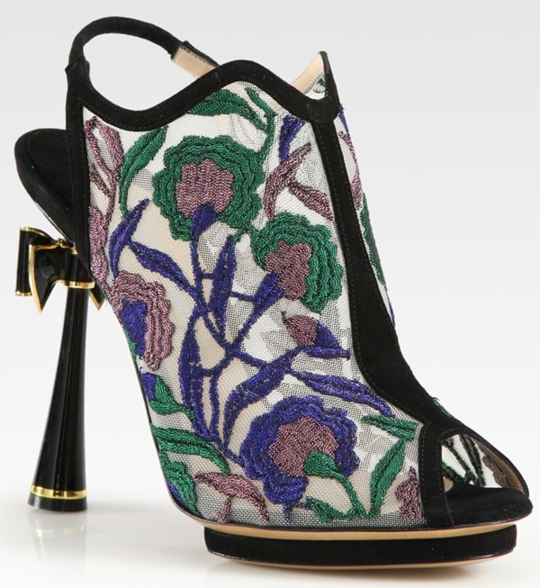 Nicholas Kirkwood Embroidered Open Back Bow