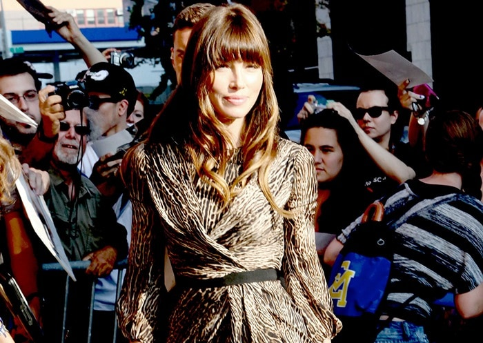 Jessica Biel at Comedy Central Studio for 'The Daily Show with Jon Stewart' inNew York City on August 2, 2012