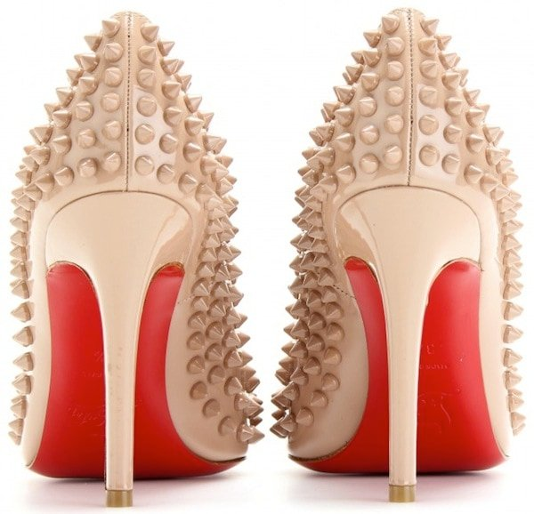 Christian Louboutin Pigalle Spikes Pumps in Nude
