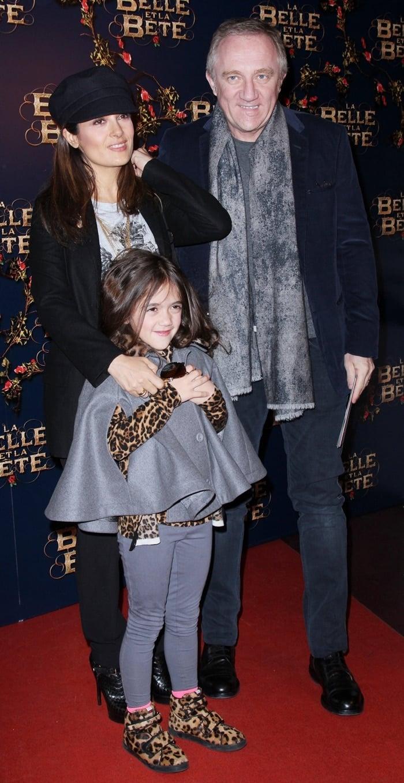 Actress Salma Hayek, her husband Francois-Henri Pinault, and their daughter Valentina Paloma Pinault