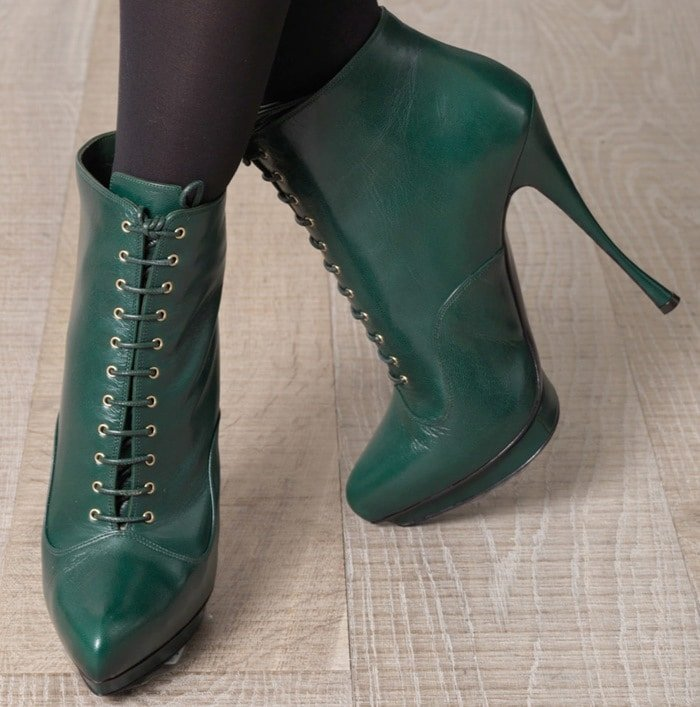 Alexander McQueen Green Laceup Boots