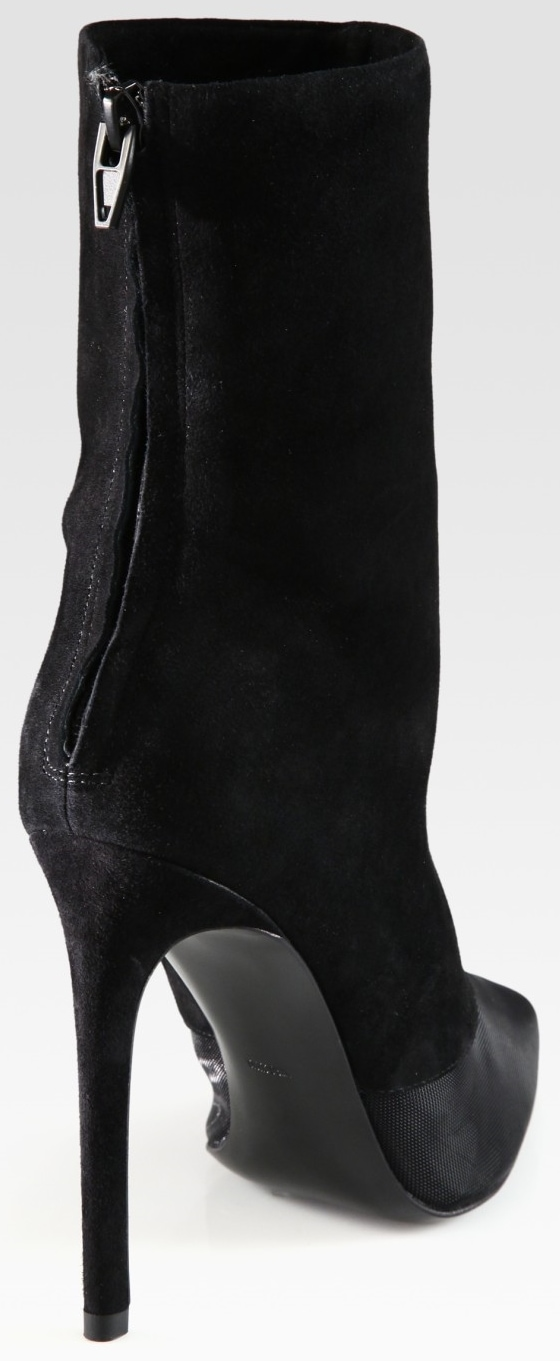 Alexander Wang Cameron Mesh and Suede Boots Back