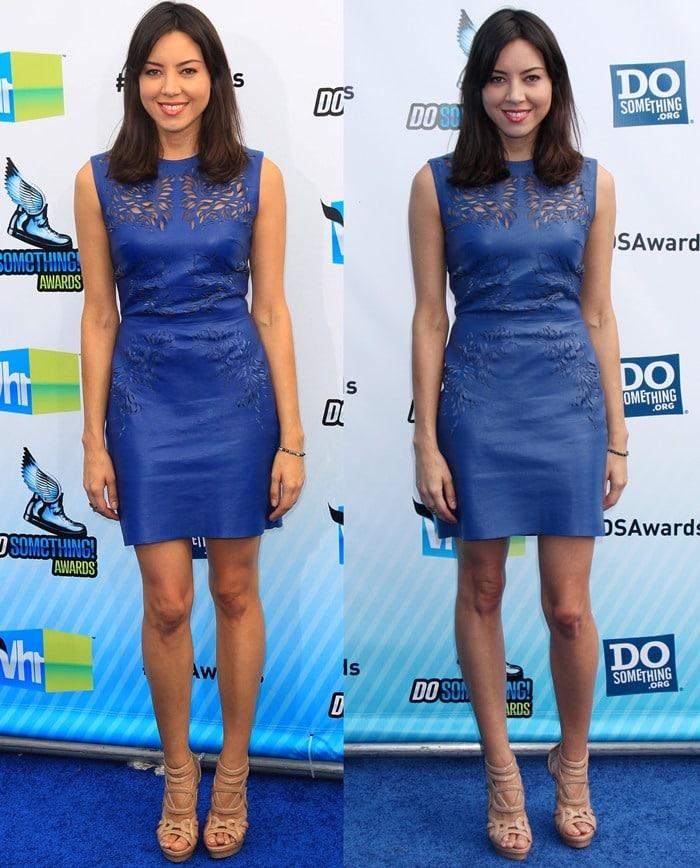 Aubrey Plaza in Catherine Deane dress