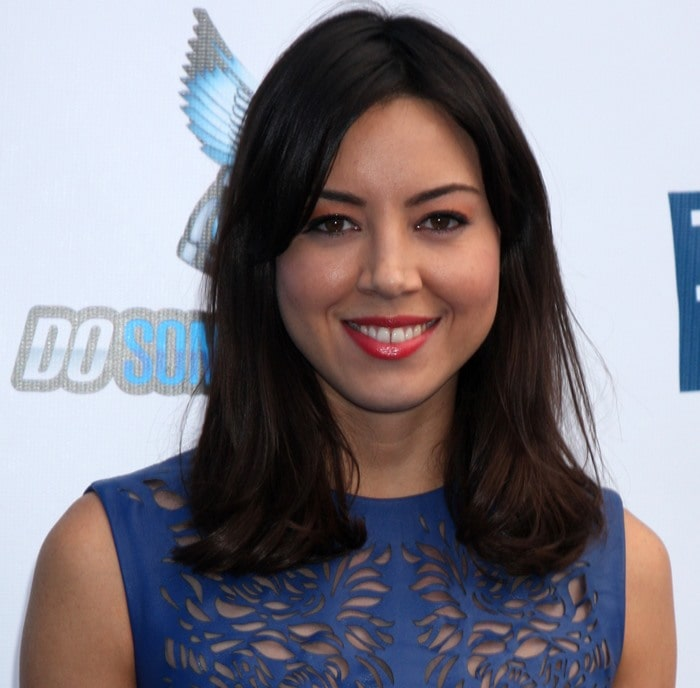 Aubrey Plaza at DoSomething.org and VH1's 2012 Do Something Awards 2012 at Barker Hangar in Los Angeles, California on August 19, 2012
