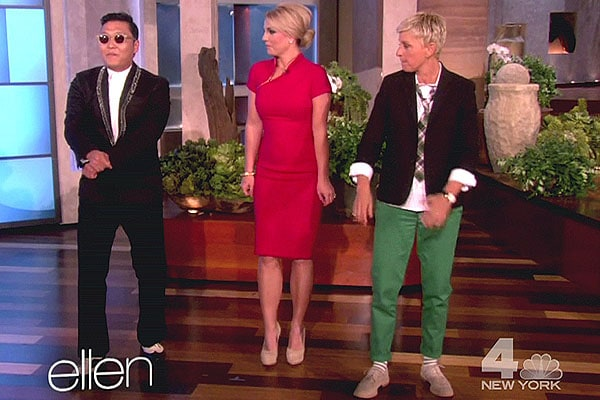"Britney Spears learns how to dance to Psy's ""Gangnam Style"" on NBC's ""The Ellen DeGeneres Show"""